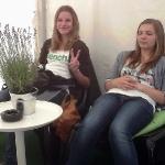 Fotos von Leoni, Lena, Sina und Franzi am Montag bei Kulturpur2011