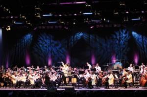 Die Philharmonie Südwestfalen im großen Zelttheater von KulturPur. Foto: René Achenbach