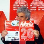 Wolfgang Suttner liest im KulturPur-Programmheft - Mit einem Klick auf dieses Bild Sie auch!